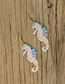 Fashion Color Hippocampus Woven Rice Earrings