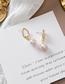 Fashion Gold 925 Silver Needle Pearl Asymmetric Earrings