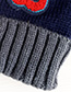 Fashion Gray + Navy Children's Hats Knit Stitching Letters