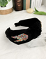 Fashion Black Knotted Hair Band With Alloy Diamond Wings