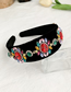 Fashion Black Alloy Diamond Velvet Headband