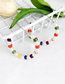 Fashion Colour Alloy Pearl Round Earrings