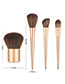 Fashion Foundation Brush Solid Color Wooden Handle Nylon Hair Foundation Brush