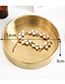 Luxury Gold Color Round Shape Decorated Storage Tray