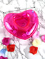 Fashion Plum Red Heart Shape Decorated Cup Holder