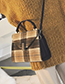 Fashion Green Grid Pattern Decorated Shoulder Bag