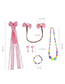 Lovely Plum Red Rabbits Decorated Child Jewelry Sets