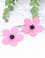 Fashion Dark Gray Flower Shape Decorated Earrings