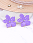 Fashion Beige Flowers Shape Design Simple Earrings