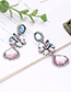 Fashion Multi-color Geometric Shape Diamond Decorated Long Earrings
