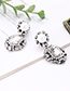 Fashion Silver Color Pearls&diamond Decorated Pure Color Earrings