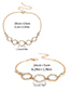 Elegant Silver Color Round Shape Decorated Pure Color Bracelet