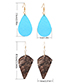 Simple Coffee Pure Color Decorated Earrings