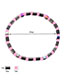 Fashion Pink Color-matching Decorated Bracelet