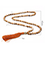 Fashion Navy Bead&tassel Decorated Necklace