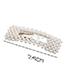 Fashion White Triangle Decorated Pure Color Hair Clip