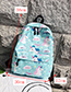Fashion Green Unicorn Pattern Decorated Backpack
