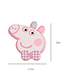 Fashion Red Pig Shape Decorated Hair Sticky (3 Pcs)