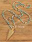 Trendy Gray Arrow Shape Pendant Decorated Long Necklace
