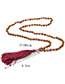 Vintage White+black Color Matching Design Long Tassel Necklace
