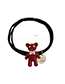 Sweet Red Bear Pendant Decorated Hair Band