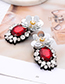 Fashion Yellow+red Flower Shape Decorated Earrings