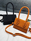 Fashion Orange Pure Color Design Mini Shoulder Bag