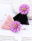 Fashion Pink Flowers Decorated Tassel Earrings