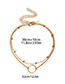 Fashion Gold Color Mult-layer Deisgn Pure Color Necklace