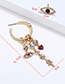 Fashion Gold Color Eye Shape Decorated Tassel Earrings