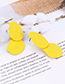 Fashion Purple Irregular Shape Decorated Earrings