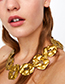 Fashion Gold Color Irregular?shape?decorated?necklace