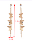 Fashion Gold Color Butterfly Shape Decorated Tassel Earrings