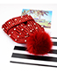 Fashion Red Full Pearl Decorated Hat