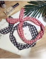 Fashion Red Grid Pattern Decorated Hair Hoop