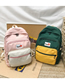 Fashion Green Colorblock Backpack