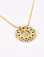 Fashion Golden T Copper Inlaid Zircon Letter Necklace