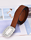 Fashion Brown Alloy Pu Brown Belt