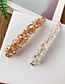 Fashion Pink Alloy Resin Transparent Bead Hair Clip