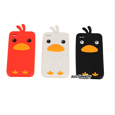 China Color will be random Sleepy Puppy Shape Silicon Iphone 4 4s