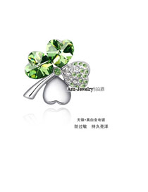 High Waist olive Green Brooch Alloy Crystal Brooches