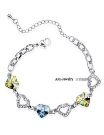 Winter sea blue + yellow Yellow Bracelet Alloy Crystal Bracelets