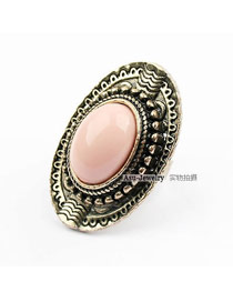 Cocktail Pink Queen Alloy Korean Rings