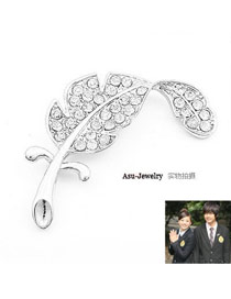 Catholic Silver Color Diamond Alloy Korean Brooches