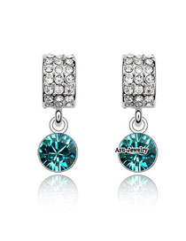 Limited Blue Earrings Alloy Crystal Earrings
