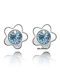 Smart sea blue Blue Earrings Alloy Crystal Earrings