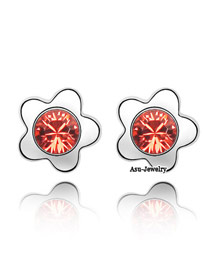 Baggy Padparadscha Red Earrings Alloy Crystal Earrings