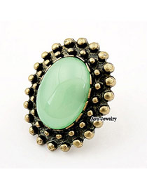 Kids Green Bead Alloy Korean Rings