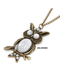 Funky Bronze Owl Pendant Alloy Chains