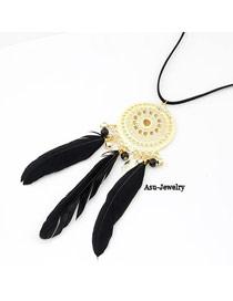 Wishbone Black Feather